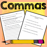 Commas Activities - Lists, Appositives, Compound Sentences