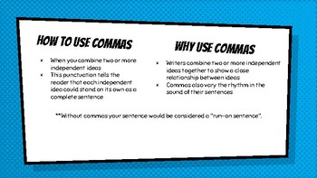 Commas: How to use them