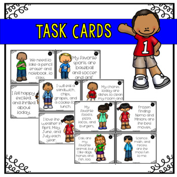 Commas In A Series- Task Cards/ Sort Game
