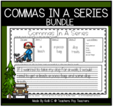 Commas In A Series Worksheets BUNDLE For the Year   Writing Sentences