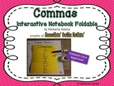 Commas Interactive Notebook Foldable