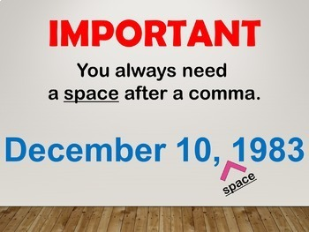 Commas Interactive PowerPoint Lesson