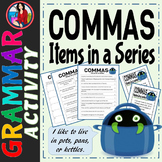 Commas Items in a Series Activity