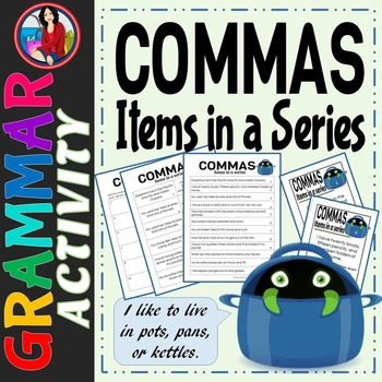 Commas, Items in a Series Activity