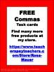 Free Commas Task Cards  for Use with Centers or Scoot
