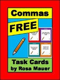 Commas Task Cards and Worksheet for Centers or Scoot