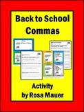 Back to School Language Arts Commas Activities