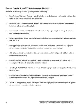 Commas: Lesson + 5 Exercises