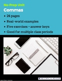 Comma Unit: Lesson + 5 Exercises