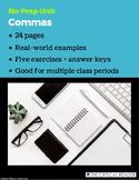 Comma Unit: Lesson + 5 Exercises