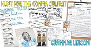 Commas Lesson Plan