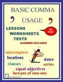 COMMAS - Basic Comma Usage No-Prep Unit