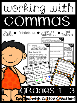 Commas {MANY resources for GRADES 1 - 3}
