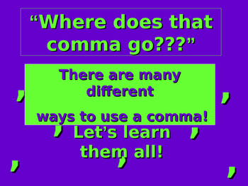 Commas Overview Presentation