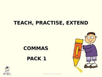 Commas Pack 1 Teaching PowerPoint
