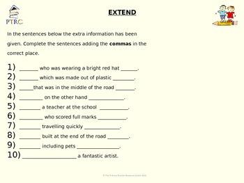 Commas Pack 2 Teaching PowerPoint