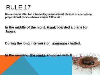 Commas Part Two 12-19