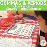 Commas Punctuation Restaurant Classroom Transformation ELA TEST PREP