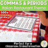 Commas Punctuation Restaurant Pizza Classroom Transformation ELA Test Prep