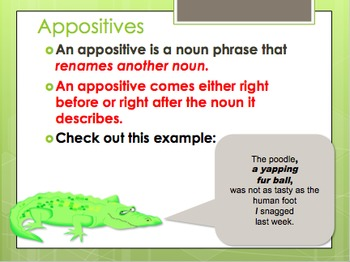 Commas Powerpoint and Guided Notes