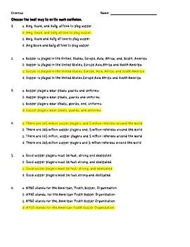 Commas Practice