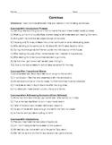 Commas Practice Worksheet