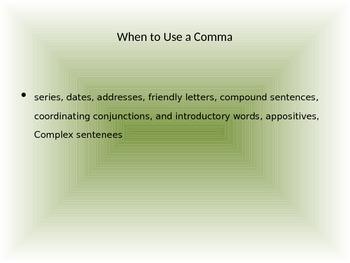 Commas Presentation