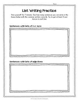 Commas - Punctuation Series