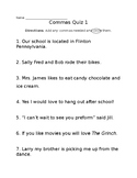 Commas Quiz FREEBIE