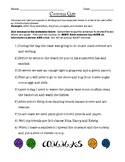 Commas Quiz (In Introductory Phrases and Lists/Series)