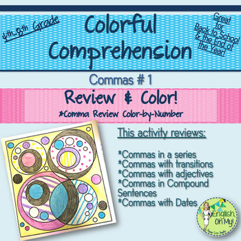 Commas Review-Colorful Comprehensions, Color By Number