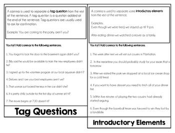 Commas Review Flipbook