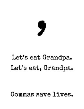 Commas Save Lifes Poster