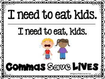 Commas Save Lives Posters Freebie