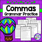 Commas - Grammar Practice Pages for Using Commas