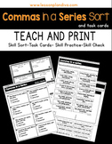 Commas in a Series Sort and Task Cards