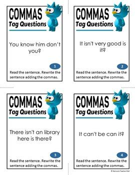 Commas, Tag Questions