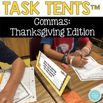 Commas Task Tents™:  Thanksgiving Edition