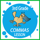 Commas Activities + Lesson, THREE Posters, and Personal Narrative Writing