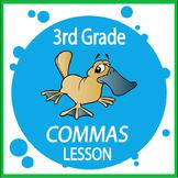 Commas Activities – 3rd Grade Grammar Practice + Personal Narrative Writing