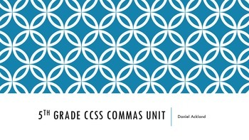 Commas Unit Common Core