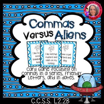 Commas Versus Aliens- Comma practice game