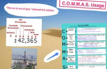 Commas Video Explanation: Misc. Usages of Comma (4 of 6)