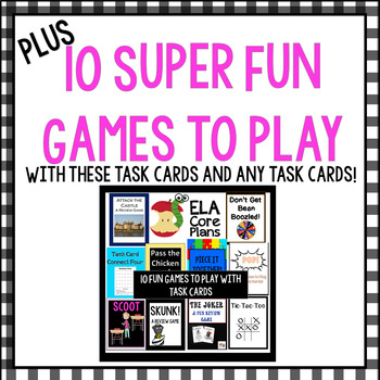 Commas With Coordinate and Non-Coordinate Adjectives ~50 Task Cards Plus Games!