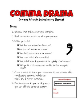 Commas With Openers