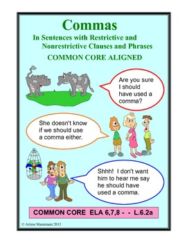 COMMAS - Restrictive and Nonrestrictive Clauses & Appositives No-prep Unit
