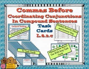 Commas and Coordinating Conjunctions in Compound Sentences L.4.2.c