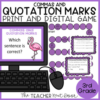 Commas and Quotation Marks Game   Commas and Quotation Marks Center