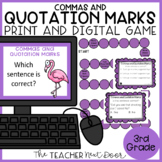 Commas and Quotation Marks Game Print and Digital Distance