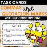 Commas and Quotation Marks Task Cards